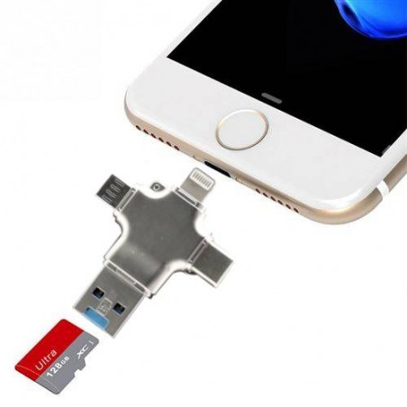 Micro SD Card reader kompatibele iPhone Android